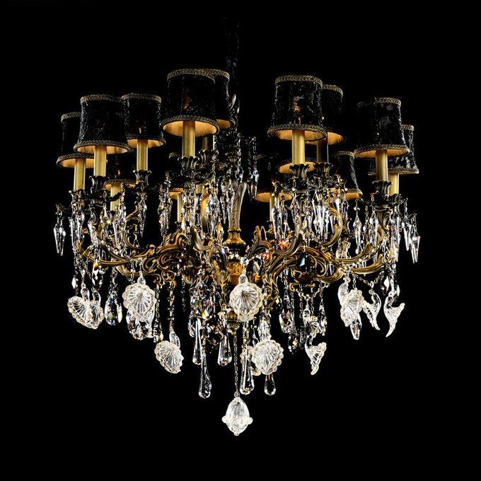 Подвесная люстра Illuminati Kerch с арматурой цвета темной бронзы и подвесками из муранского стекла Illuminati Kerch