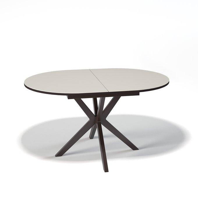 Стол обеденный Asio раскладной цвета крем сатин