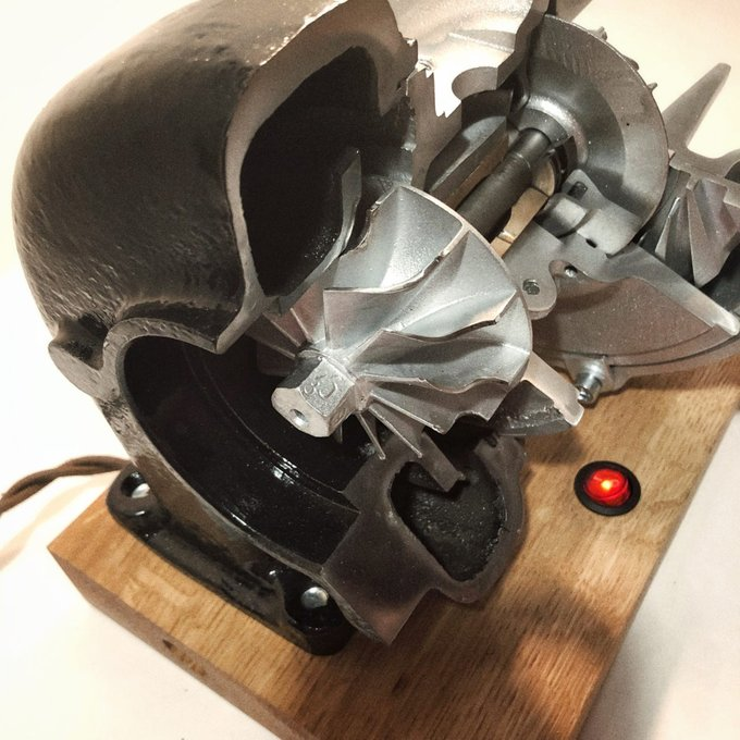 Напольный светильник в стиле лофт Turbo
