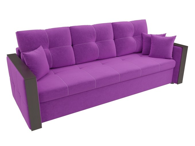 Прямой диван-кровать Валенсия фиолетового цвета