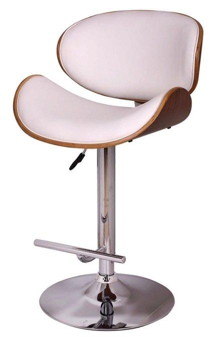 Барный стул Том на ножке из хромированного металла