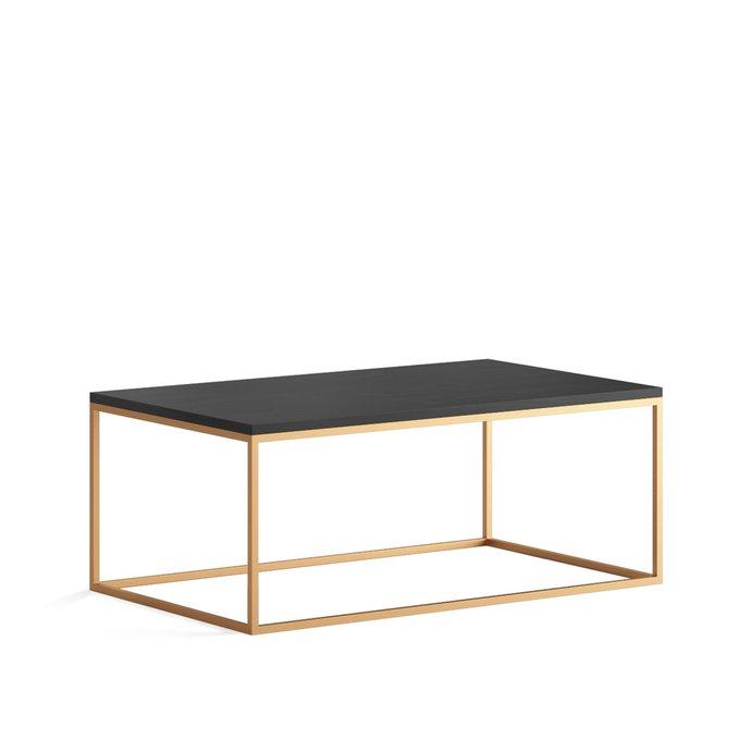 Журнальный стол Lingard gold цвета черного дуба