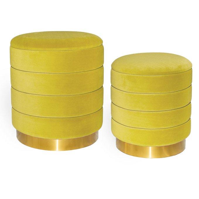 Набор из двух пуфиков Dallas желтого цвета