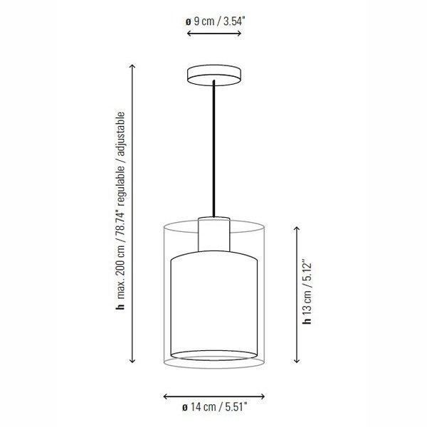 Подвесной светильник Bover OLIVER из прозрачного стекла