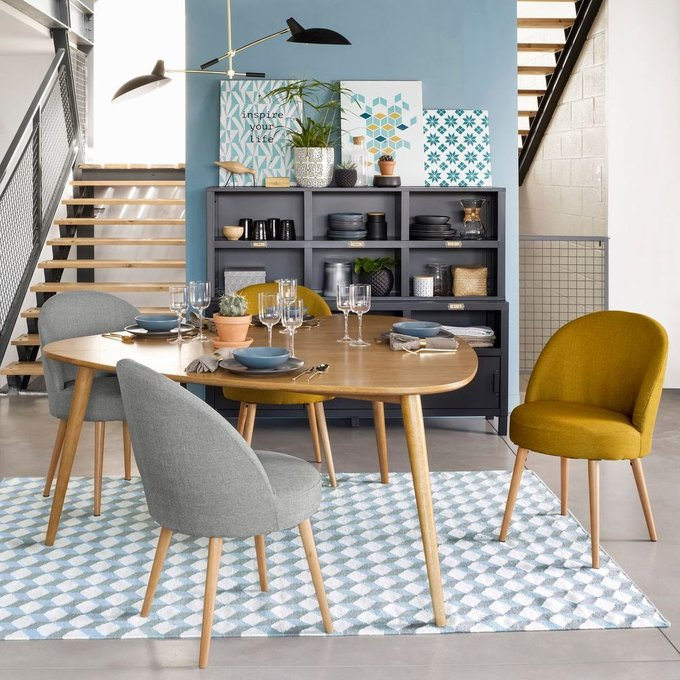 Комплект из двух стульев Quilda с принтом гусиная лапка