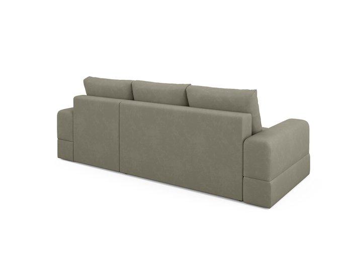 Угловой диван-кровать Elke серо-бежевого цвета