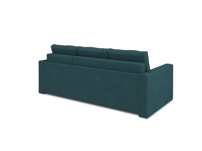 Угловой диван-кровать Macao сине-зеленого цвета
