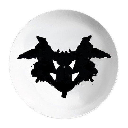Тарелки 'Ужин с Роршахом' (разные дизайны) / Faces, набор 2 шт