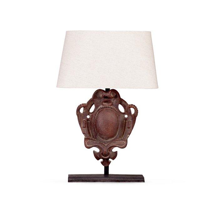 Лампа настольная La France с белым абажуром