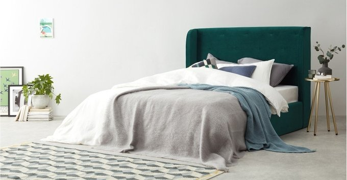 Кровать Chaplin Зеленый 160х200