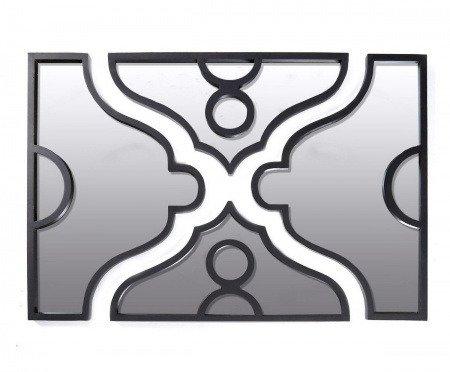 Настенное Зеркало в металлической черной оправе