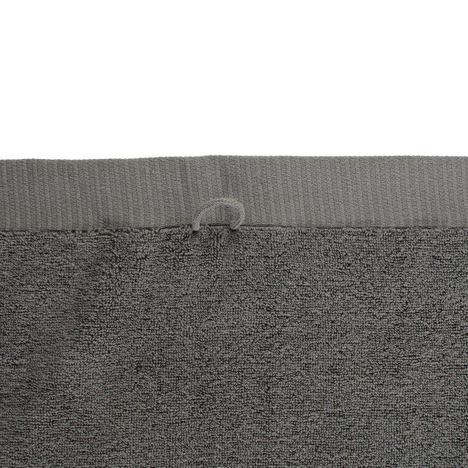 Полотенце для лица из хлопка темно-серого цвета