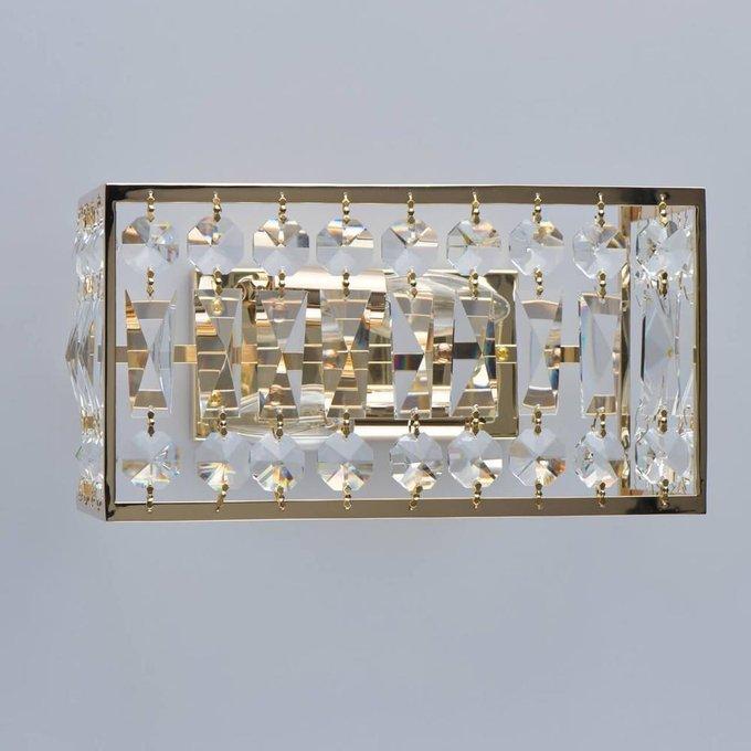 Настенный светильник Монарх из металла и хрусталя