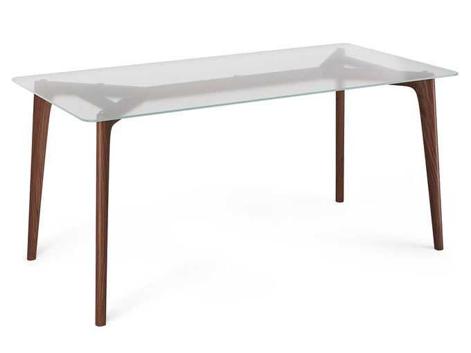 Обеденный стол FLOYD  со столешницей из матового стекла