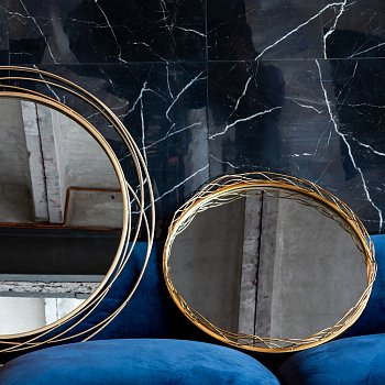 Настенное зеркало Лорентин Голд золотого цвета
