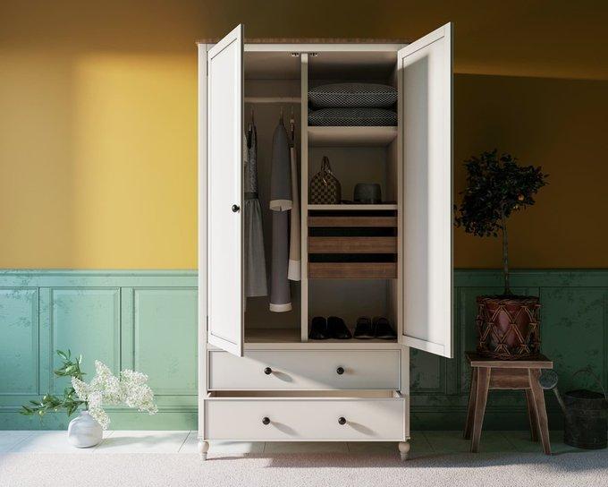 Шкаф двухстворчатый Odri с ящиками
