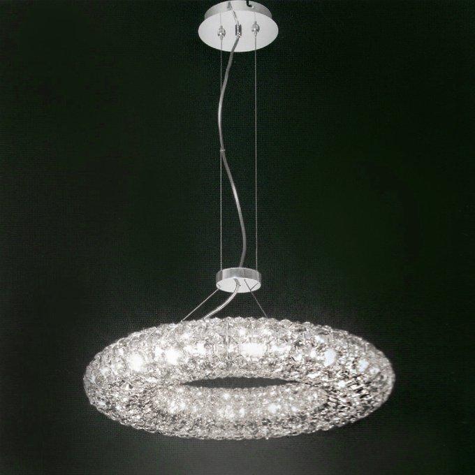 Подвесной светильник Ming Wang из множества кристаллов прозрачного цвета