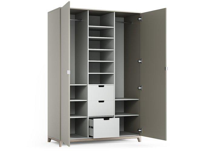 Шкаф Case осветлённый дуб / оливковый