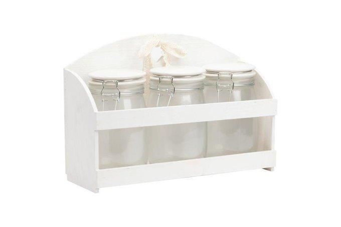 "Набор декоративных банок на подставке ""Loche Grande"""