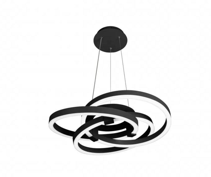 Подвесная люстра Comely черного цвета