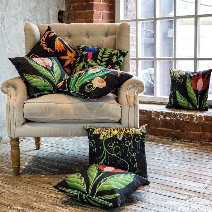 Декоративная подушка Тропический лес версия 9