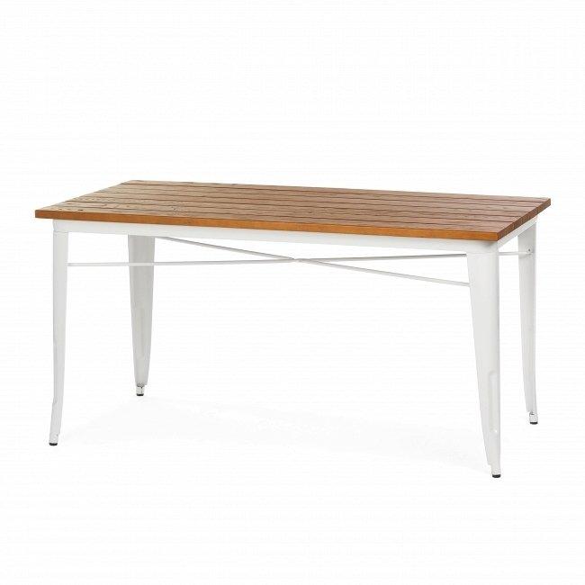 Обеденный стол Marais из массива ясеня и стали