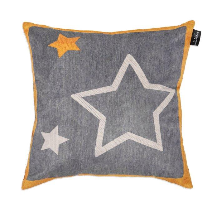 Декоративная подушка Star серого цвета 45х45