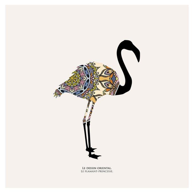 Картина (репродукция, постер): Восточный блеск, Фламинго-принцесса