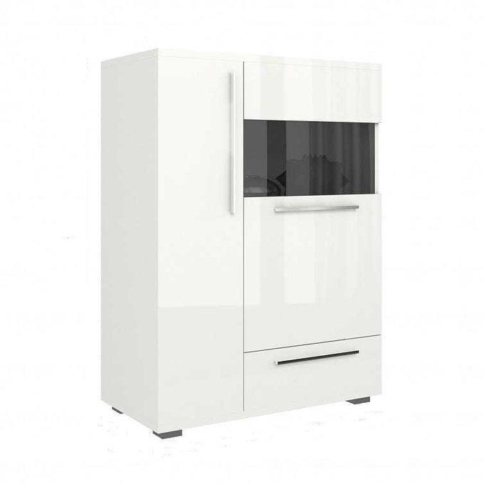 Шкаф-витрина Piano белого цвета