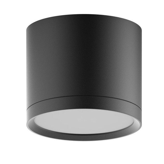 Потолочный светодиодный светильник Overhead черного цвета