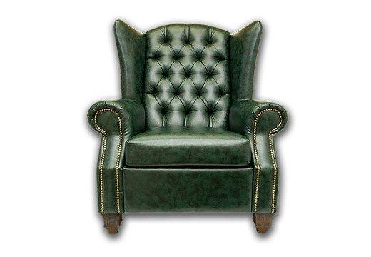 Английское кресло Harold с деревянными ножками