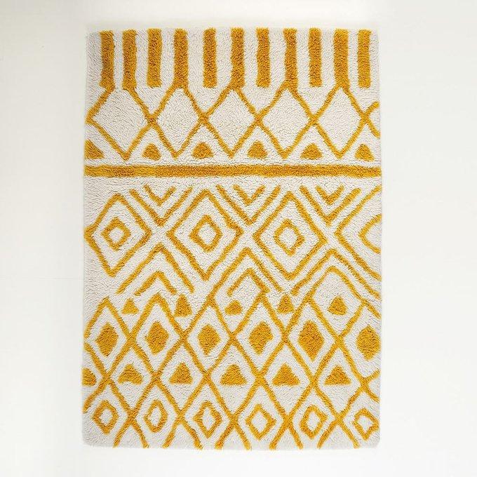 Ковер Ocrul из шерсти в берберском стиле бежевого цвета 120x170