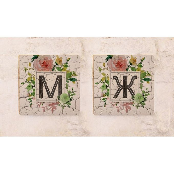 Набор из двух табличек дя туалета Vintage Roses