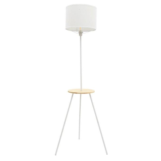 Лампа напольная белого цвета