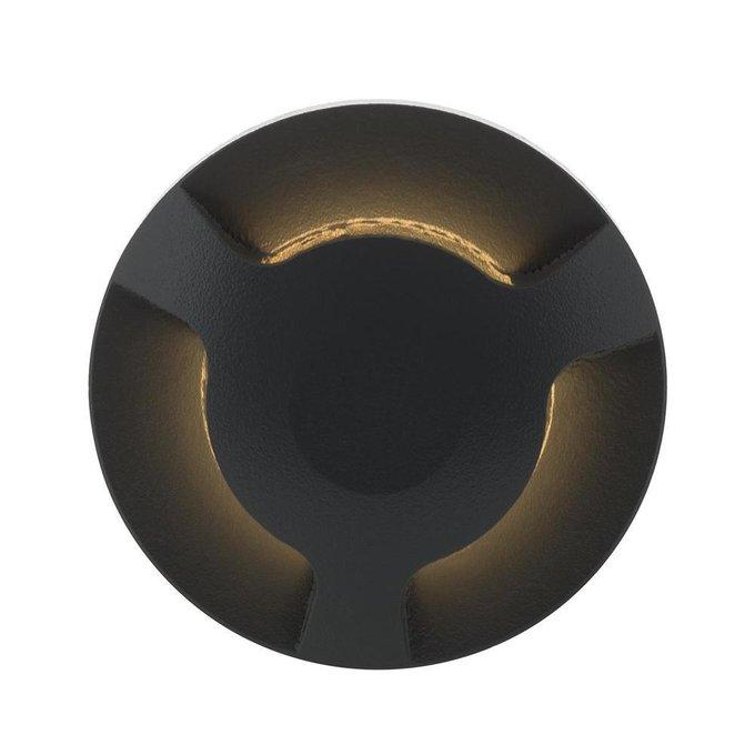 Уличный светодиодный светильник темно-серого цвета