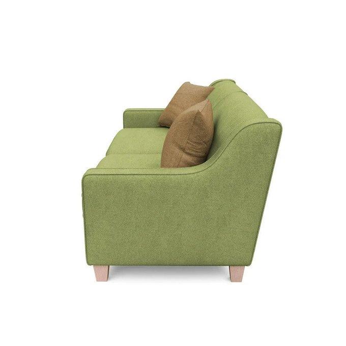Трехместный диван-кровать Агата L зеленого цвета