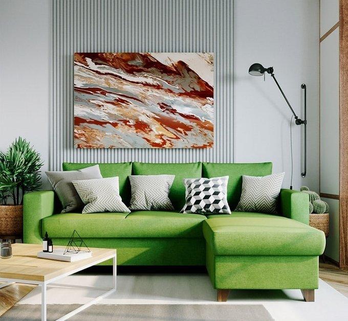 Угловой диван-кровать Эмилио серого цвета