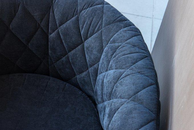 Кресло Космос с отстрочкой  синего цвета