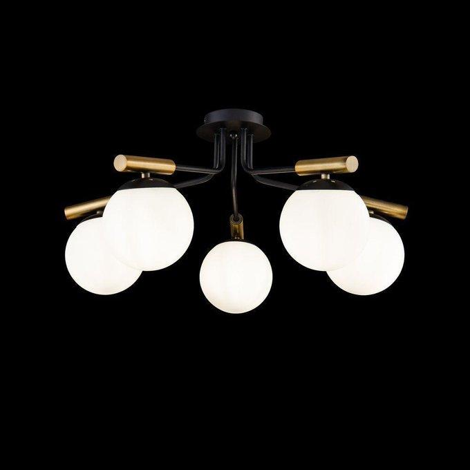Потолочная люстра Paolina с плафонами из стекла белого цвета