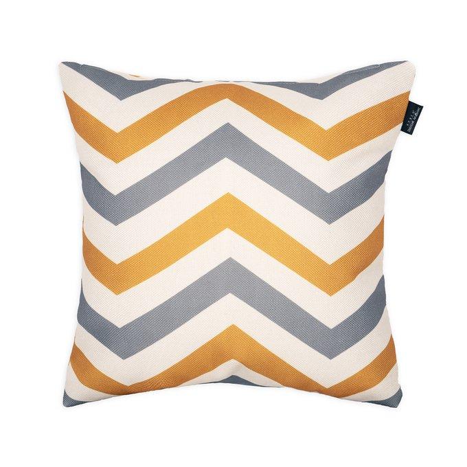 Декоративная подушка Rikko с принтом зигзаг