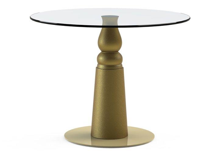 """Обеденный стол """"IGNIS Gold"""" со столешницей из закаленного стекла"""