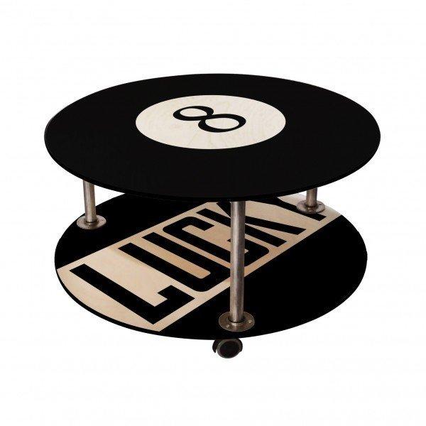 Журнальный столик с оригинальным принтом на колесиках