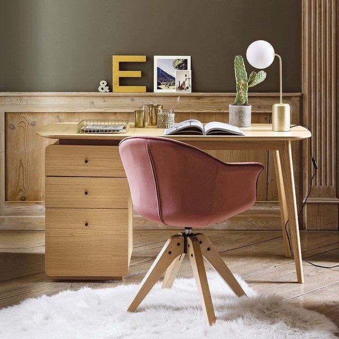 Офисное вращающееся кресло Quilda розового цвета
