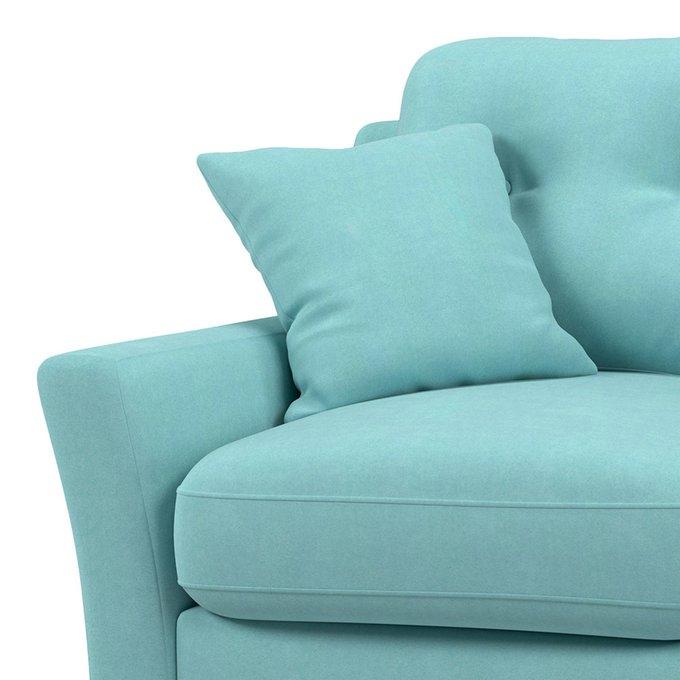 Диван-кровать Raf MT трехместный голубого цвета