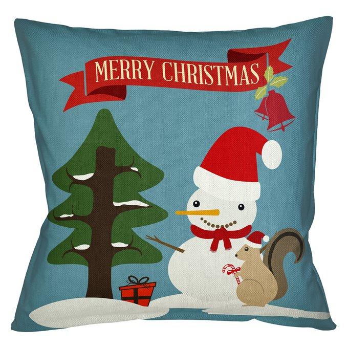 Декоративная арт подушка Новогоднее настроение версия 22