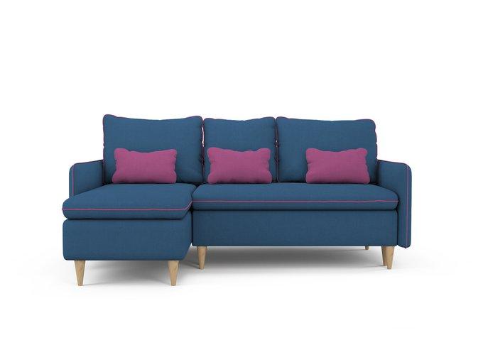 Угловой Диван-кровать Ron левый синего цвета