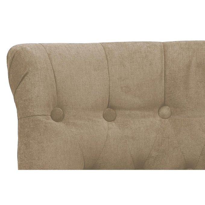 Кресло Dawson в обивке из велюра бежевого цвета