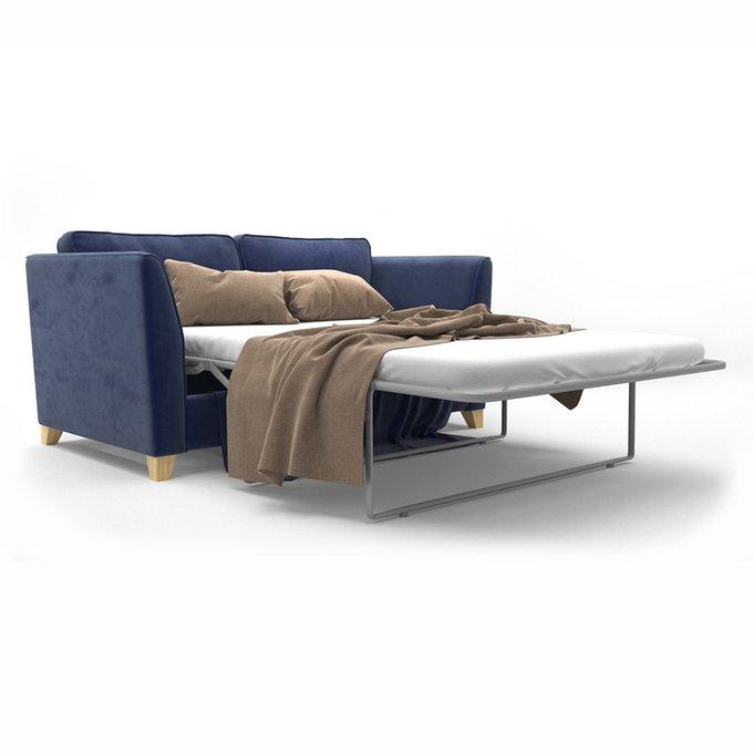 Двухместный раскладной диван Wolsly MT синего цвета