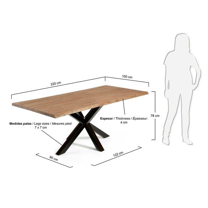 Обеденный стол Julia Grup ARYA с дубовой столешницей