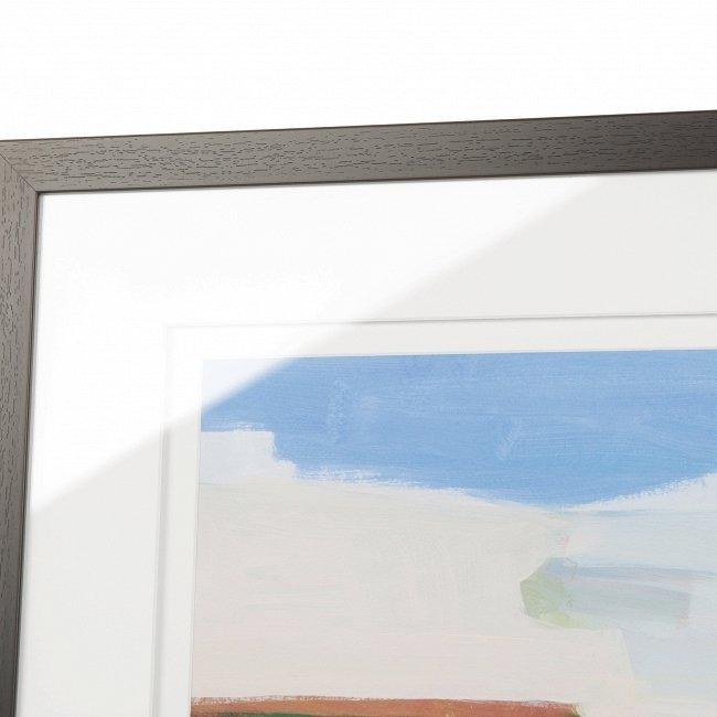 Квадратный постер в раме Seascape с абстрактным изображением морского пейзажа